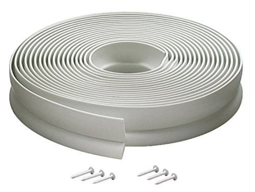 M-D Building Products Available 3822 Vinyl Garage Door Top and Sides Seal, 30 Feet, White