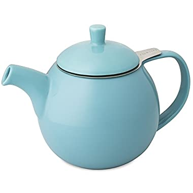 FORLIFE Curve Teapot with Infuser, 24-Ounce, Turquoise