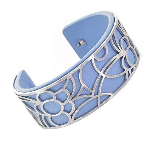 Venta: Divertida joyería de moda: 2,5 cm de alto, flexible, con inserto de goma azul extraíble (5 cm x 5,5 cm) (YK35) A