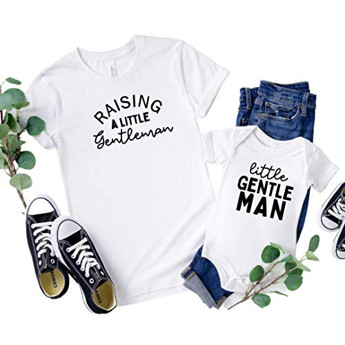 Matching Son and Mom Outfits, Raising Gentlemen Mommy and Me Shirts Boy, Raising Boys, Boy Mama Shirt, Shirts for Boy mom, All boy mom, Raising Little Boys, Mothers Day Gifts. Little Gentleman