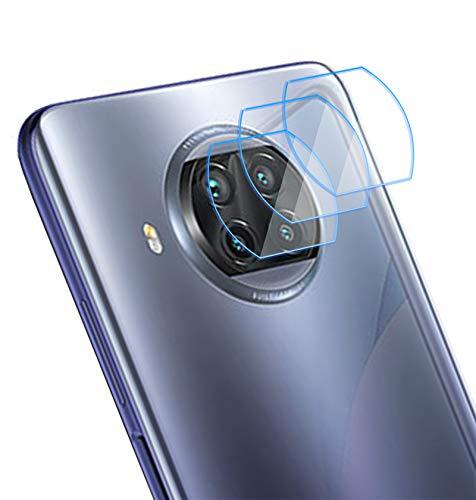 NOKOER Protector Cámara para Xiaomi Mi 10T Lite, [3 Pack] Protector de Pantalla Cámara, 2.5D Película de Protección de Vidrio- Transparente