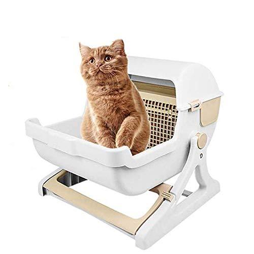 LIANGZHI Katzentoilette Automatische Selbstreinigend Katzentoilette Mit Sieb Groß Katzen Katzenklo 50 * 46 * 43cm(20x18 x17 in)
