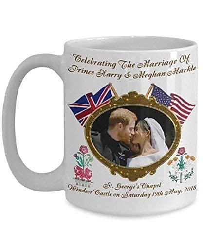 Taza de café conmemorativa del dragón y la rosa de la boda...