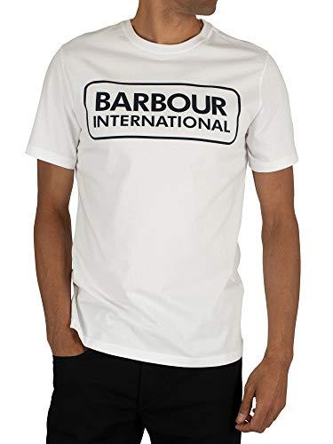 Barbour International Large Logo Crew Neck tee White-L