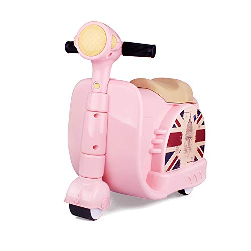 TBY La Maleta de los niños, la Maleta de la Vespa, la Motocicleta Puede Montar el Juguete del Montar a Caballo para el Viaje al Aire Libre etc,Pink