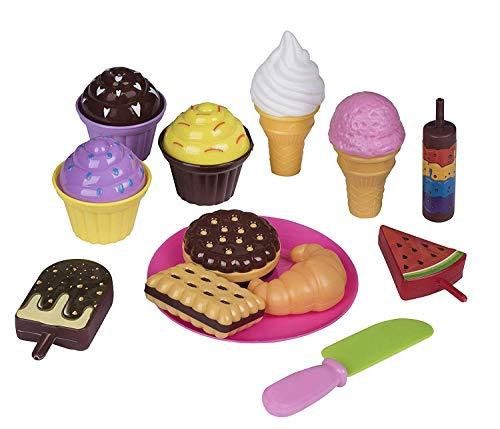 Playkidz- Pasteles educativos Divertidos para niños, Cocina, Surtido de Galletas Falsas, Magdalenas, Helados, etc. (Pretender Comida pastelera, Juego)