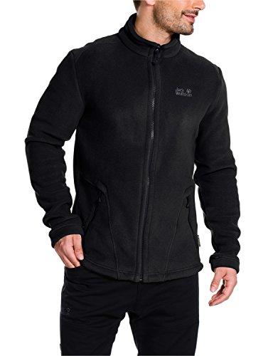 Jack Wolfskin Herren Fleece Jacke Thunder Bay Jacket Fleecejacke, Black, XXL