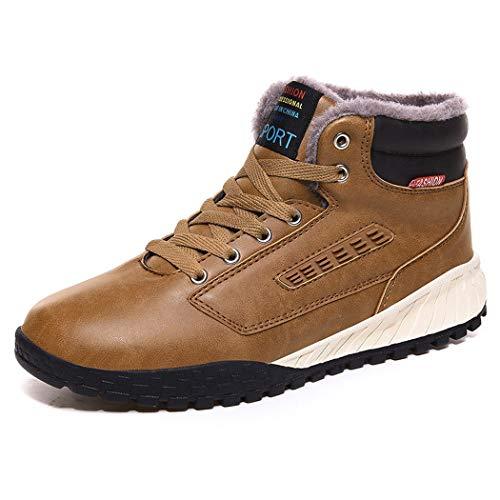 AZLLY Heren schoenen Fluff Warm enkellaarzen gevoerd niet-slip licht mode loopschoenen sportschoenen voor winter camping outdoor trekking