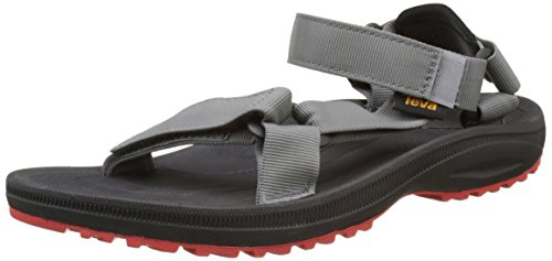 Teva Herren Winsted Solid Mens Sandalen, Schwarz (Black/Red BRD), 47 EU
