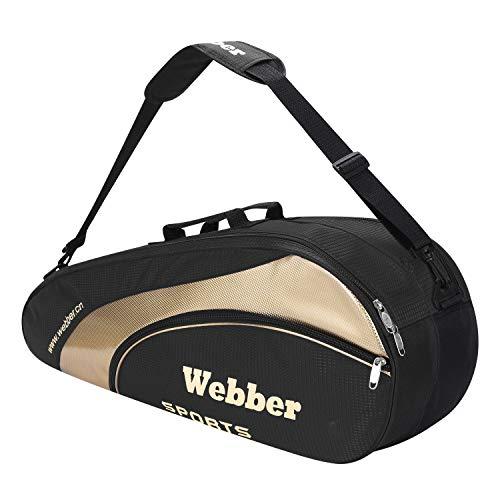 Schlägertasche Tragbare Badmintontasche Tennistasche Squashtasche Große Kapazität Racketbag Team Bag mit Separater Schuhtasche Multifunktionale Sporttasche Schlägerhülle für Badminton Tennis Squash