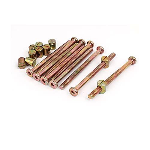 KJBGS Perno 10set Amarillo Zinc Inclinado M6X80MM Tecla Hexagonal Cable Cable Tapa...