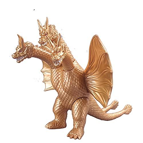 Versión mejorada de Godzilla gran dragón de tres cabezas Kishra 25 cm modelo móvil juguete adornos de regalo de cumpleaños de juguete para niños pop brook,nendoroid,pop vinyl,battle statue, actio