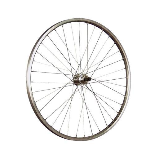 Taylor-Wheels 26 Zoll Hinterrad YAK19 Hohlkammerfelge - Silber