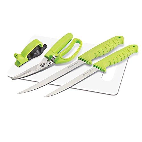 910064 Kilimanjaro 5Piece Premium Fishing Knife Set,