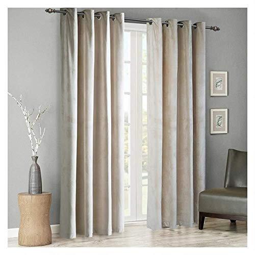 HBCDSAO Modern Solid Velvet Blackout Curtains for Living Room Bedroom Soft Comfortable Blinds Windows Curtain Custom Size Plain Door (Color : Ivory, Size : Hook)