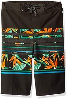 TONY HAWK Boys Birds of Paradise Striped Board Short Swim Trunks Black Size 18/20 [並行輸入品]