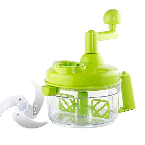 COOL outdoors Küchen-Handschneidemaschine Handgekurbelte Fleisch-Pfeffermühle Multifunktionale Gemüsemühle für Gemüse