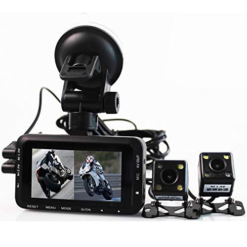 WSY Doppelkamera, die Recorder fährt, wasserdichter doppelter Sensor des Objektivs 3.0 Zoll 1080P HD, der Recorder mit Nachtsichtrecorder der vorderen und hinteren Kamera fährt