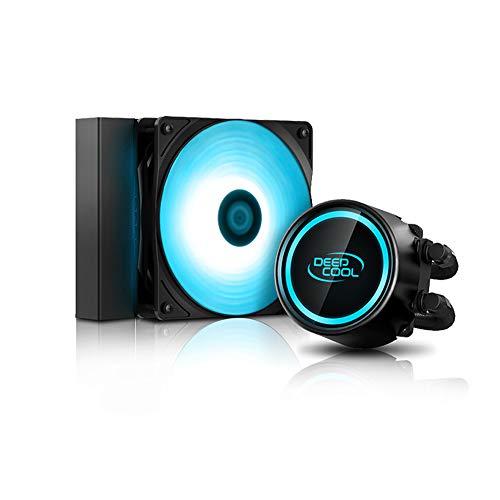 DeepCool Gammaxx L120 RGB V2 Sistema di Raffreddamento Anti-Leak Radiatore da 120mm Dissipatore a Liquido Cooler RGB 12V 4-Pin Compatibile Intel 115X 2066 e AMD AM4