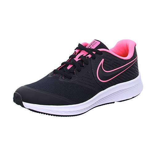 Nike Star Runner 2 (GS) Laufschuh, Schwarz Black Sunset Pulse Black White 002, 39 EU