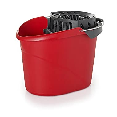 O-Cedar 148161 Quick Wring Bucket 2.5 gal Bucket with Wringer, Red