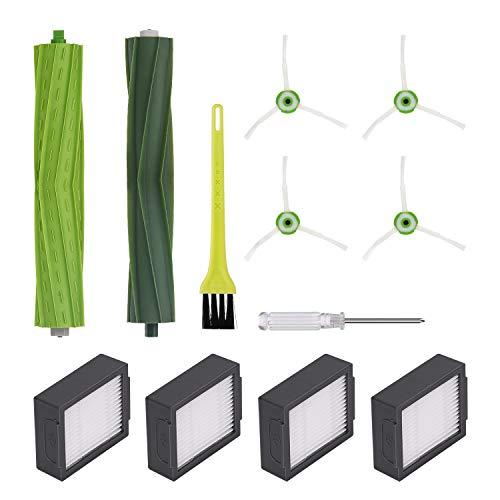 Jajadeal Pièces de Rechange Brosse et Filtres pour iRobot Roomba i7 i7+ / i7 Plus E5 E6 E7 Aspirateur, Kit d'accessoires de Remplacement - Set 1