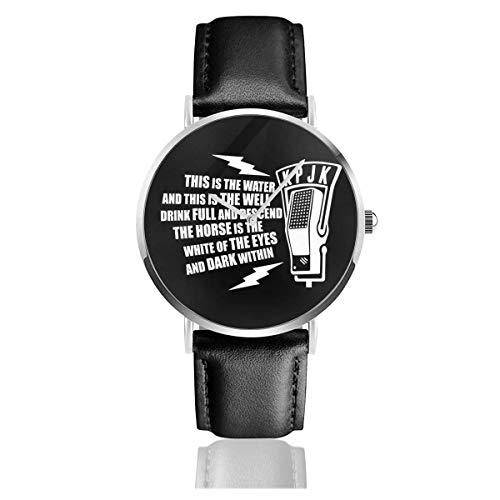 Unisex Business Casual Dies ist das Wasser Zitat Twin Peaks Uhren Quarz Lederuhr