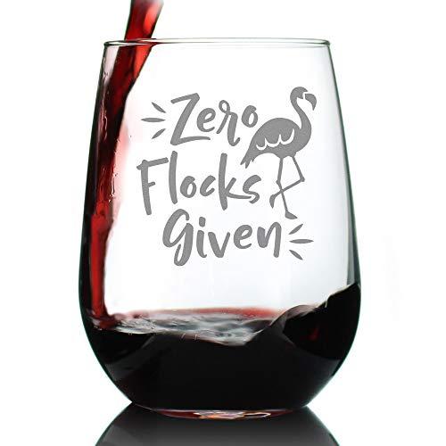 Zero Flocks Given Stemless Wine Glass