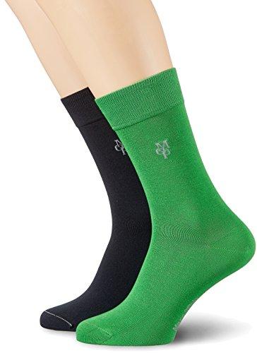 Marc O´Polo BodyundBeach Herren M-Socks 2-Pack, 2, Grün (Grasgrün 706), 403