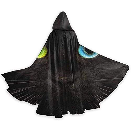 Niet toepasbare afzuigkap, Halloween cappucco, mantel Deluxe, mantel van heks, mantel met capuchon, zwart