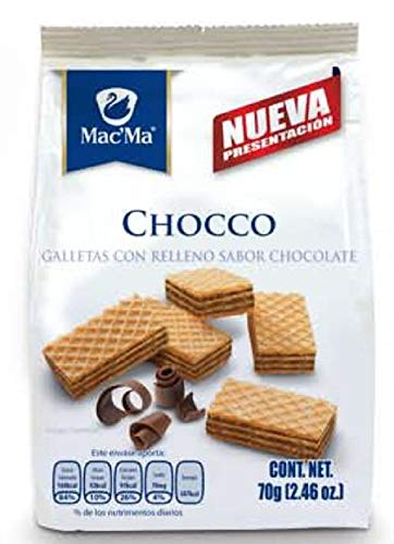 Macma Mexican Waffer Chocco Cookies galletas with Chocco Flavored Filling