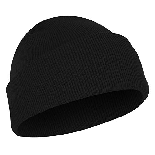 Rothco Deluxe Fine Knit Watch Cap, Black