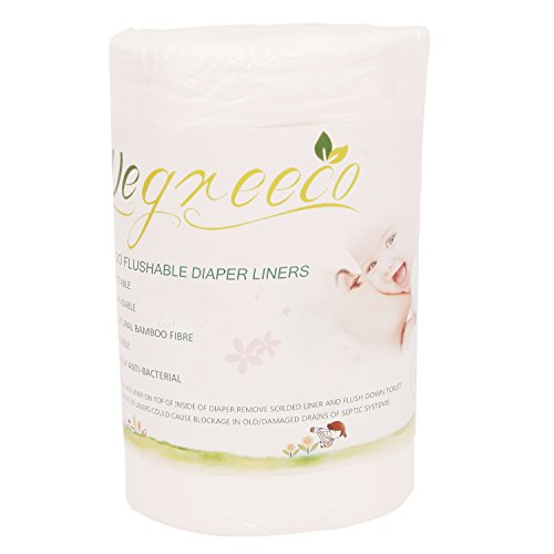 100% Bamboo Biodegradable Diaper Liners