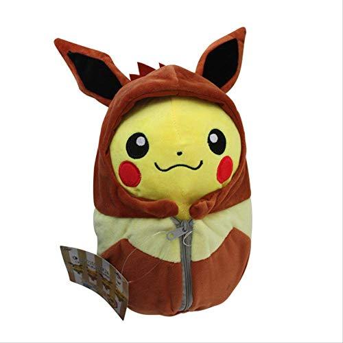 DOUFUZZ SNHPP Kreative Spielzeug Spitfire Dragon Ibe ABEL Schlange Schlafsack Pikachu Plus Spielzeug Puppe 25cm Brauner (Open-Eye) Ibe Schlafsack