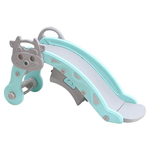 LJJOO Tornos de plástico Multifuncional para niños Baby Home Slider Slide Slider Rocking Caballo Combo Rocking Silla Bebé Regalo Troján Toboganes Independientes