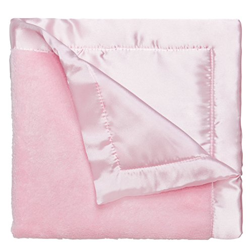 Élégant bébé Ultra doux en microfibre, Satiné Bordure et dos 50,8 x 50,8 cm Doudou tout en rose pastel