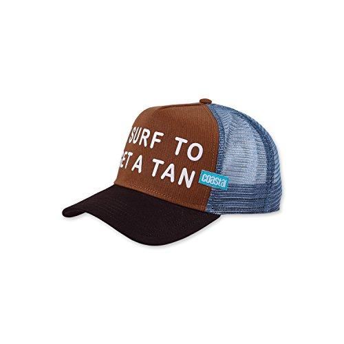 COASTAL - Get A Tan (cognac/brown/dove) - High Fitted Trucker Cap