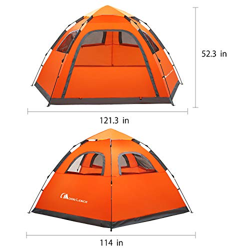 Waterproof and windproof best family tent for 4/5 person
