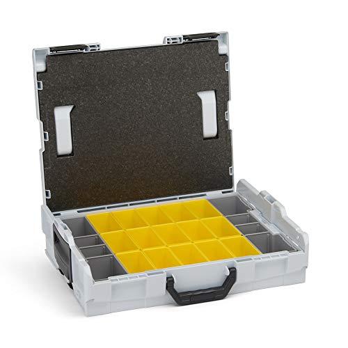 Ordnungssystem für Schrauben   L-BOXX 102 (grau) mit Insetboxenset B3   Profi Werkzeugkoffer leer inkl. Sortimentskasten Einsätze