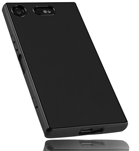 mumbi Hülle kompatibel mit Sony Xperia XZ1 Compact Handy Hülle Handyhülle, schwarz
