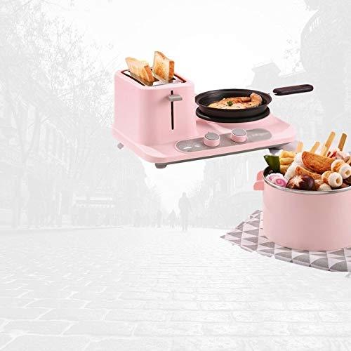 STRAW Multi-función Pan, Mini-Cocina Sartén, Hogar Tostadora, Hornada de la Pizza y Sandwich Pan3-en-1 Desayuno eléctrico de la máquina (Color : B)