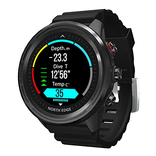 QNMM Range5 Smart Watch para Hombres, 1.3' Full Touch 50M Impermeable Monitor de Frecuencia Cardíaca Fitness Sport Relojes GPS Activity Tracker Smartwatch