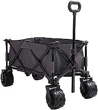 Patio Watcher Collapsible Folding Utility Wagon Cart Outdoor Garden Beach Wagon Camping Shopping Sports Portable Wagon with All Terrain Wheels Large Capacity Heavy Duty, Gray