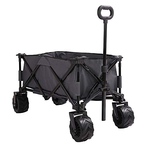 Patio Watcher Collapsible Wagon Folding Utility Wagon Cart Beach Outdoor Garden Camping Sports All...