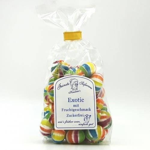Zuckerfreie Exotic Bonbons mit Fruchtgeschmack, 120g
