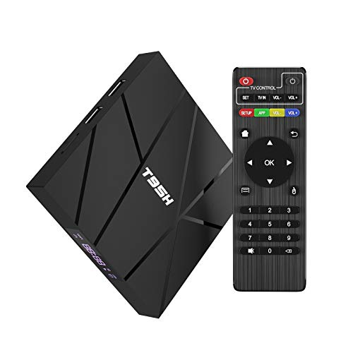 Android T95H - Smart TV Box, Android 10.0, 2 GB de RAM/16 GB de ROM, procesador Allwinner H616 de 4 núcleos, compatible con Resolución 6K/3D/H.265, 10/100M LAN Ethernet 10/100 m, wifi 2,4 GHz