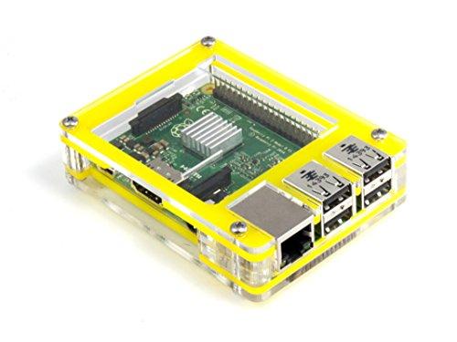 C4Labs Zebra Case–Raspberry Pi 2und B + (Tropical Gelb)