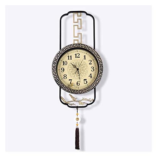 AIOJY Sala De Estar Decoración Reloj De Pared Hogar Grande Reloj Pared Colgando Creativo Tocón Pared Reloj De Pared Simple Ambiente De Pared Reloj De Pared