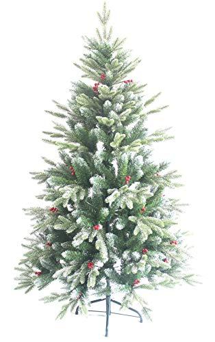 AISHITE クリスマスツリー ヌードツリー xmas 赤い果付き 120cm 150cm 北欧 おしゃれ christmas tree 葉先に雪が降り積もる