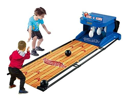 PHLSA Elektronischer Bowling Alley Spiel, Familienspiel for 1-2 Spieler, Bowling-Spiel for Kinder und Erwachsene-elektronische Schreibtafel Scorer Soundeffekte LED-Leuchten-6.6 Feet zusammenklappbare